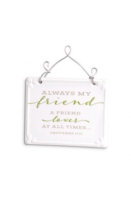 Plaque Ceramic Wire More Scripture Blessings Friend