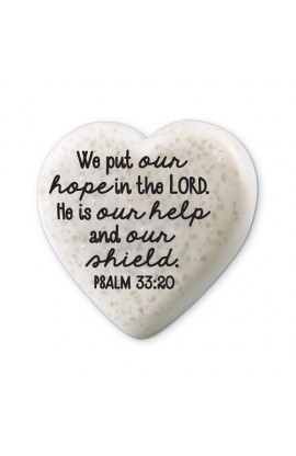 Plaque Cast Stone Scripture Stone Hearts of Hope Hope