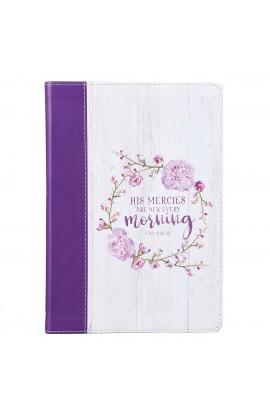Journal Slimline Purple His Mercies Lam 3:22-23