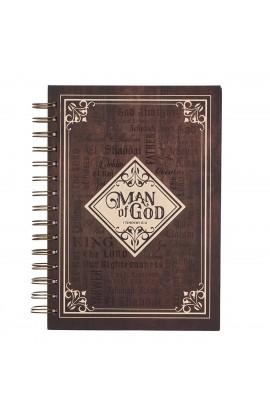 Journal Wirebound LG Brown Man Of God