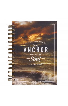 Journal Wirebound LG Brown Anchor For The Soul