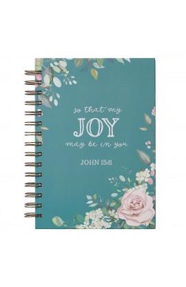 Journal Wirebound LG Teal That Joy May Be In You John 15:11