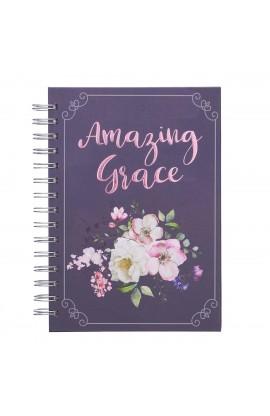 Journal Wirebound LG Purple Amazing Grace