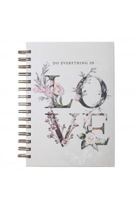 Journal Wirebound LG Floral Everything In Love