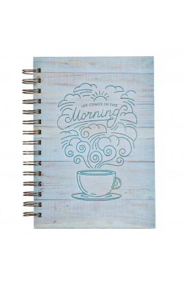 Journal Wirebound LG Blue Joy in the morning