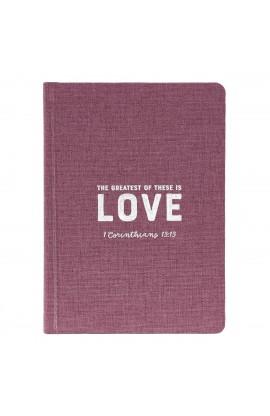Jnl HC Linen Love 1Cor 13:13
