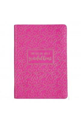 Journal Classic Zip Pink Grateful Heart
