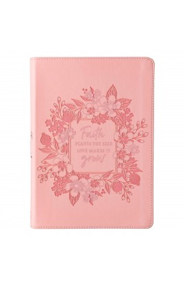 Journal Classic Pink Grow In Faith