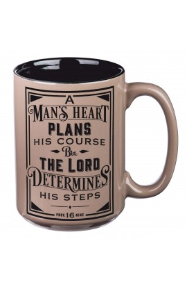 Mug Brown A Man's Heart Prov 16:9