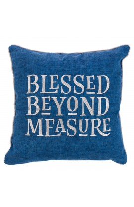 Pillow Square Blessed Beyond Measure Blue