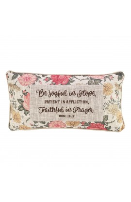 Pillow Oblong Be Joyful Floral Rom 12:12