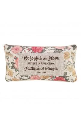 Pillow Oblong Be Joyful Floral Rom 12:12