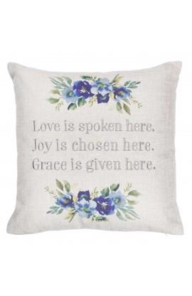 Pillow Square Love Joy Grace