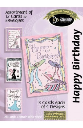 BIRTHDAY SET 3 BOXED CARD