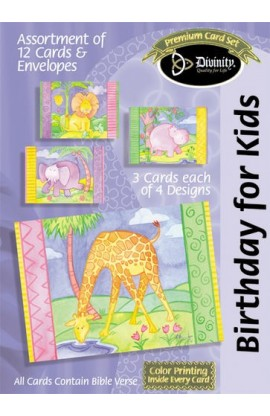 BIRTHDAY FOR KIDS ANIMALS BOXED CARD