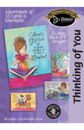THINKING OF YOU PAINTED GIRLS BOXED CARD