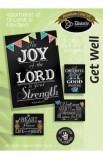GET WELL CHALKBOARD BOXED CARD