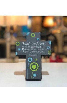 Cross Desktop Sm Metal Joy Blossoms Trust