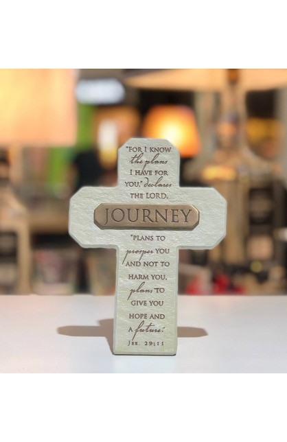 Cross Desktop Cast Stone Bronze Title Bar Journey