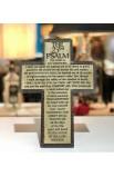 Cross Wall Desktop Cast Stone Psalm 23