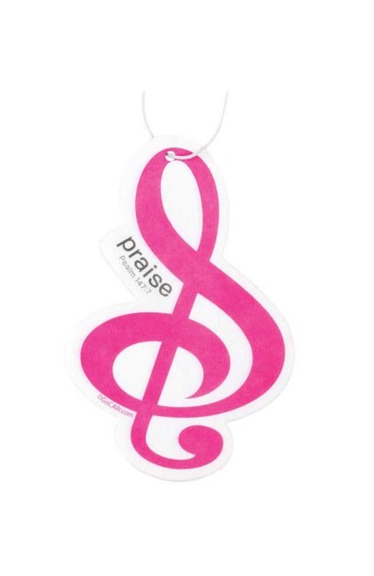 TREBLE CLEF PRAISE AIR FRESHENER
