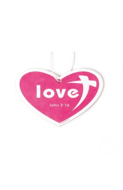 CHERRY HEART LOVE AIR FRESHENER