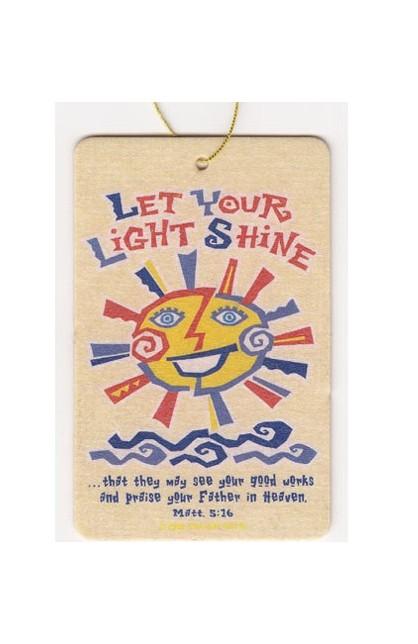 LET YOUR LIGHT SHINE AIR FRESHENER