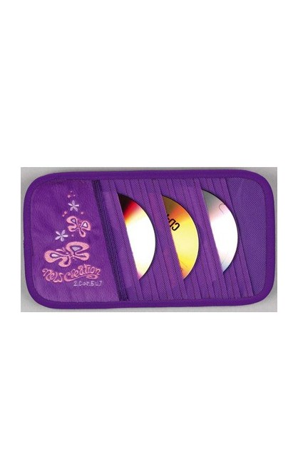 PURPLE CD VISOR ORGANIZER WITH BUTTERFLY