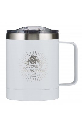 Mug SSteel Travel Strong & Courageous
