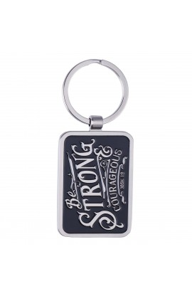 Key Ring in Tin Be Strong & Courageous