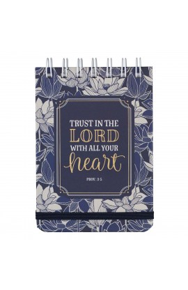 Trust In The Lord Wirebound Notepad - Proverbs 3:5-6