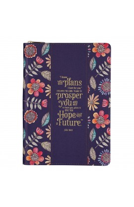 Journal Classic Zip Navy Floral I Know the Plans