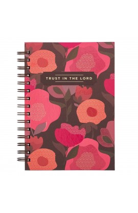 Journal Wirebound Coral Floral Trust in the Lord