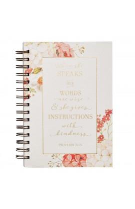 Journal Wirebound Floral When She Speaks