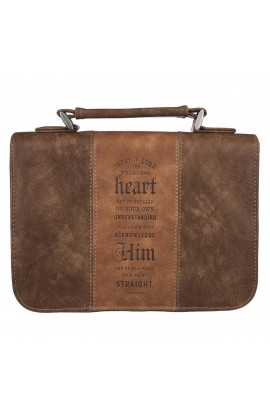 Classic Bible Cover MD Brown Trust In The Lord Prov 3:5 6