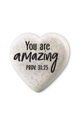 Plaque Cast Stone Sentiment Hearts You Are Amazing