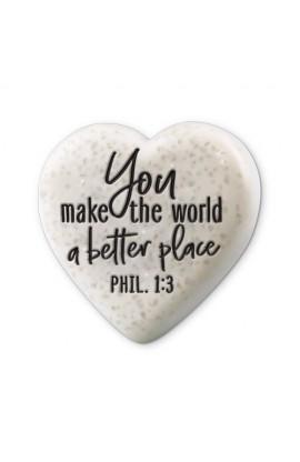 Plaque Cast Stone Sentiment Hearts A Better Place