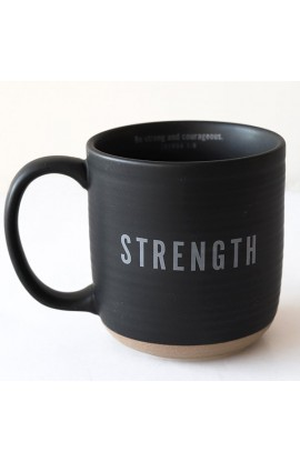 Ceramic Mug Textured Black Strength