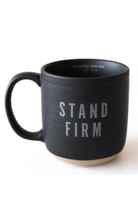 Ceramic Mug Textured Black Stand Firm