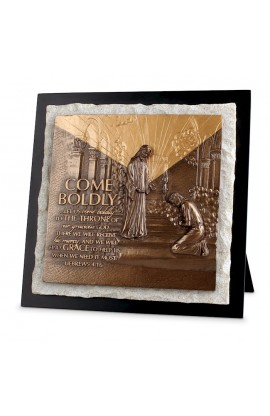 Plaque Sculpture Moments of Faith Stone Come Boldly