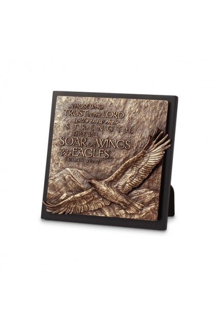 EAGLE SMALL SQUARE PLAQUE SCULPTURE