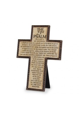 PSALM 23 DESKTOP WALL CROSS