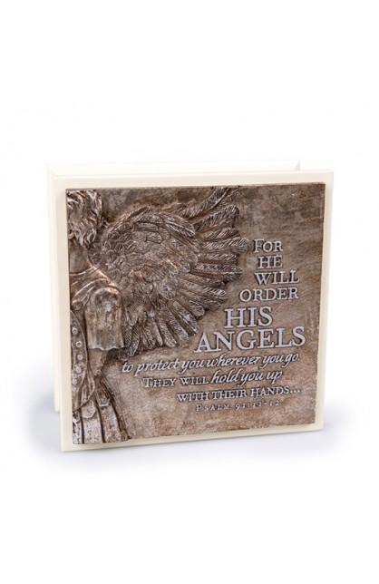 HIS ANGELS CREAM BOX SCULPTURE
