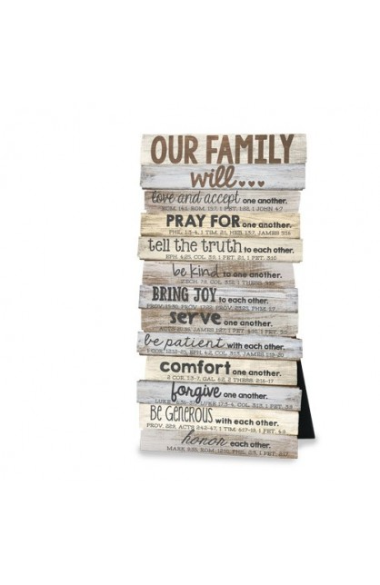 OUR FAMILY WILL DESKTOP WALL PLAQUE