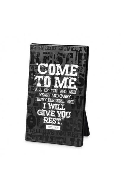 COME TO ME BLACK BLOCK PLAQUE