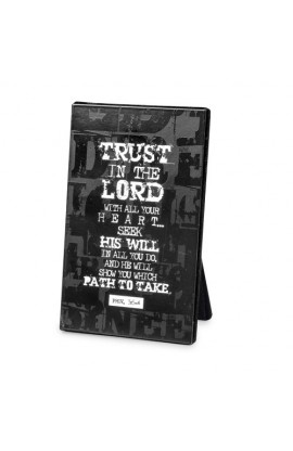 TRUST IN THE LORD BLACK BLOCK PLAQUE