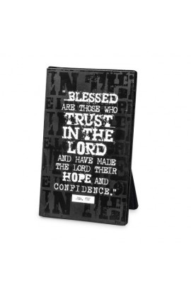HOPE IN THE LORD BLACK BLOCK PLAQUE