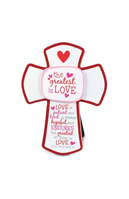 THE GREATEST IS LOVE MDF CROSS