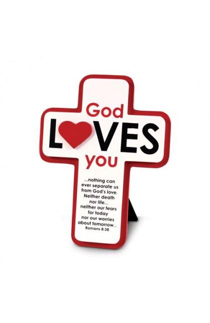 GOD LOVES YOU MDF CROSS