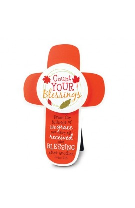 COUNT YOUR BLESSINGS MDF CROSS